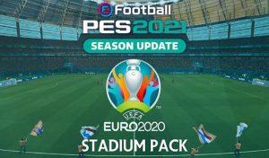 استادیوم پک EURO 2020 برای PES 2021 توسط software182
