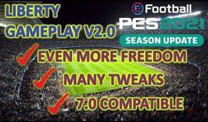 گیم پلی Liberty Gameplay v3.2 برای PES 2021