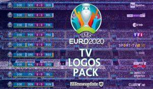 اسکوربرد UEFA EURO 2020 TV Logos برای PES 2021 توسط spursfan18