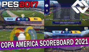 اسکوربرد COPA AMERICA 2021 برای PES 2017