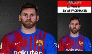 فیس Lionel Messi برای PES 2017 توسط A5