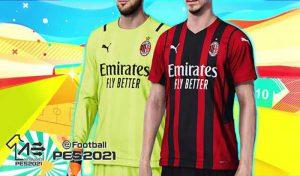 کیت تیم AC Milán 2021-22 برای PES 2021
