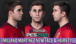 فیس EMILIANO MARTINEZ برای PES 2021 توسط NVA Facemaker