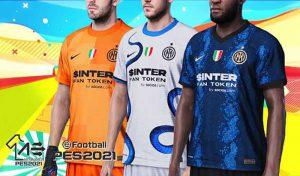 کیت تیم Inter 2021-22 برای PES 2021 توسط Arelialedson