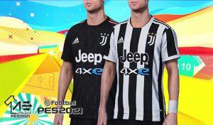 کیت تیم Juventus 2021-22 برای PES 2021 توسط Arelialedson