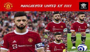 کیت پک خانگی تیم Manchester United 2022 برای PES 2021
