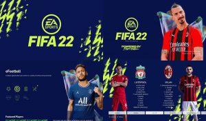 منو گرافیکی FIFA 22 Green Edition برای PES 2021