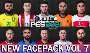 فیس پک VOL 7 برای PES 2021 توسط Jonathan Facemaker