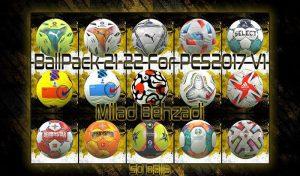 توپ پک Season 2022 برای PES 2017 توسط Milad Behzadi
