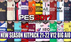 کیت پک V12 برای PES 2017 فصل 2021/2022
