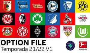 آپشن فایل Bundesliga V1 2021 برای PES 2021 PS4/PS5/PC