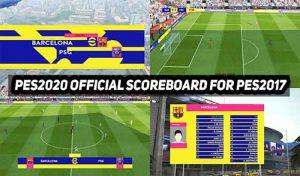 اسکوربرد PES 2022 Official برای PES 2017 توسط DzplayZ