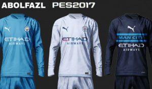 کیت Manchester City برای PES 2017