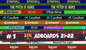 ادبورد BARCELONA ADBOARDS 21-22 برای PES 2017