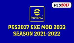 ماد Exe Mod Season 2021-2022برای PES 2017