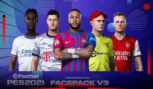 فیس پک v3 برای PES 2021 توسط All Facemaker