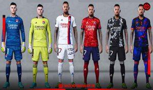 کیت Olympique Lyon 2021-22 برای PES 2021
