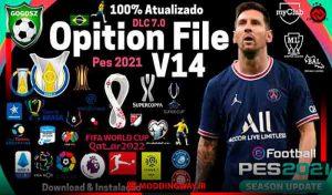آپشن فایل Option File V14 برای PES 2021 PC