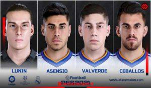 فیس Real Madrid v3 برای PES 2021 توسط Yeshua