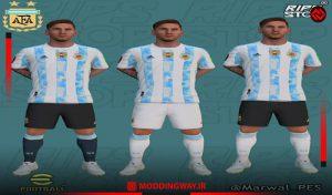 کیت تیم ملی Argentina برای PES 2021