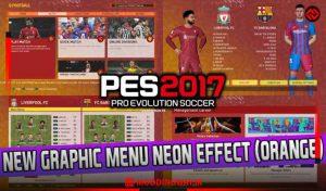 ماد گرافیکی NEON EFFECT ORANGE برای PES 2017