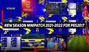 پچ SEASON MINIPATCH 2021-2022 برای PES 2017
