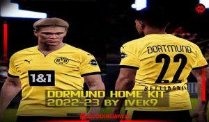 کیت Borussia Dortmund Home 2022-23 برای PES 2021