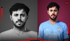 فیس Bernardo Silva برای PES 2021 توسط Lucas Facemaker