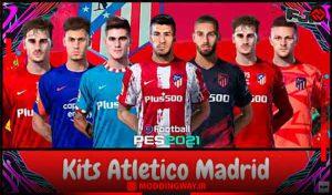 کیت v2 Atlético de Madrid 2021-22 برای PES 2021