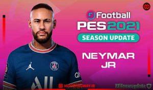 فیس Neymar 2021 برای PES 2021 توسط Valentinlgs10