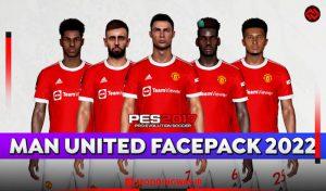 فیس پک Manchester United 2022 برای PES 2017